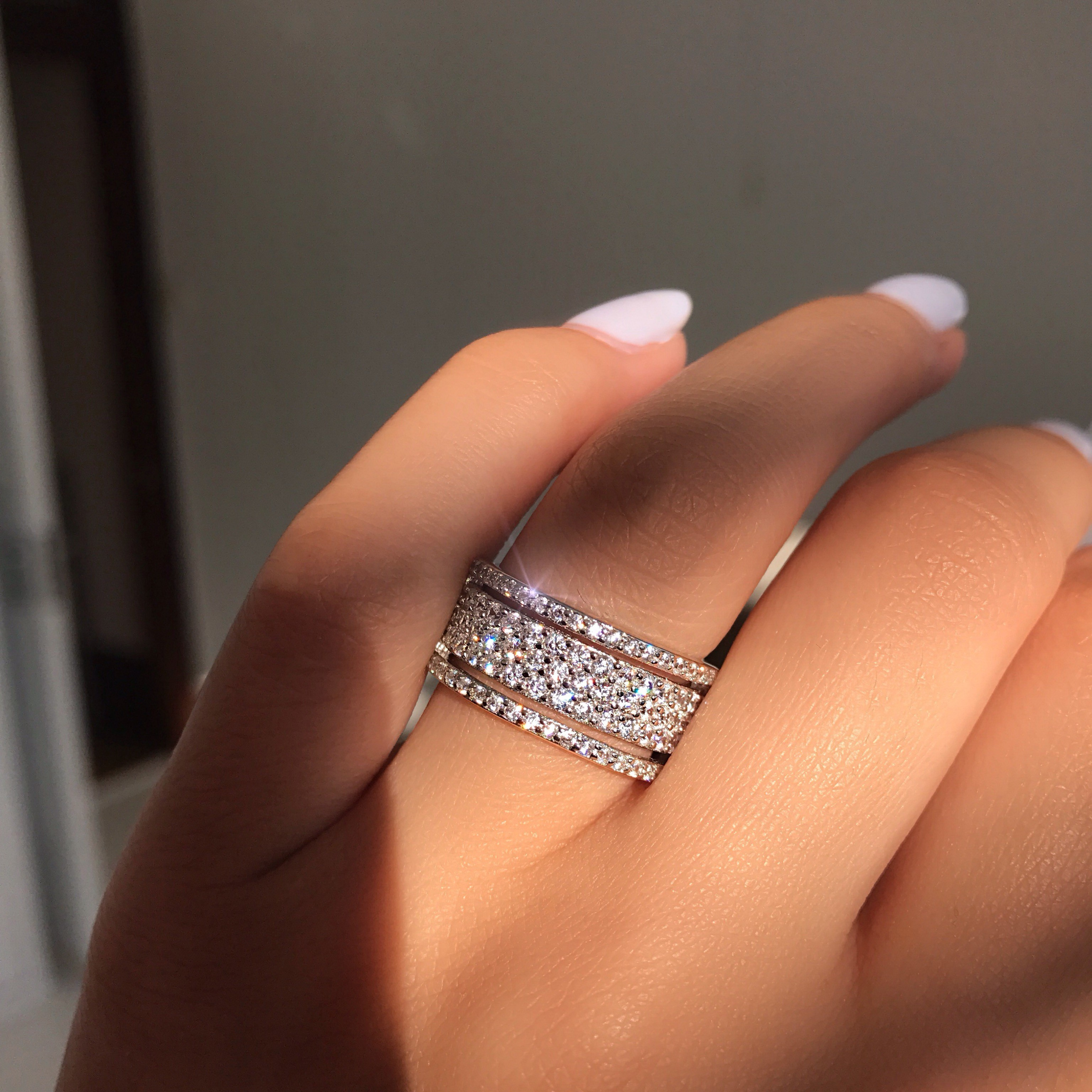 solid newshe carat ring white rings engagement set cz silver princess sterling band wedding jewellery