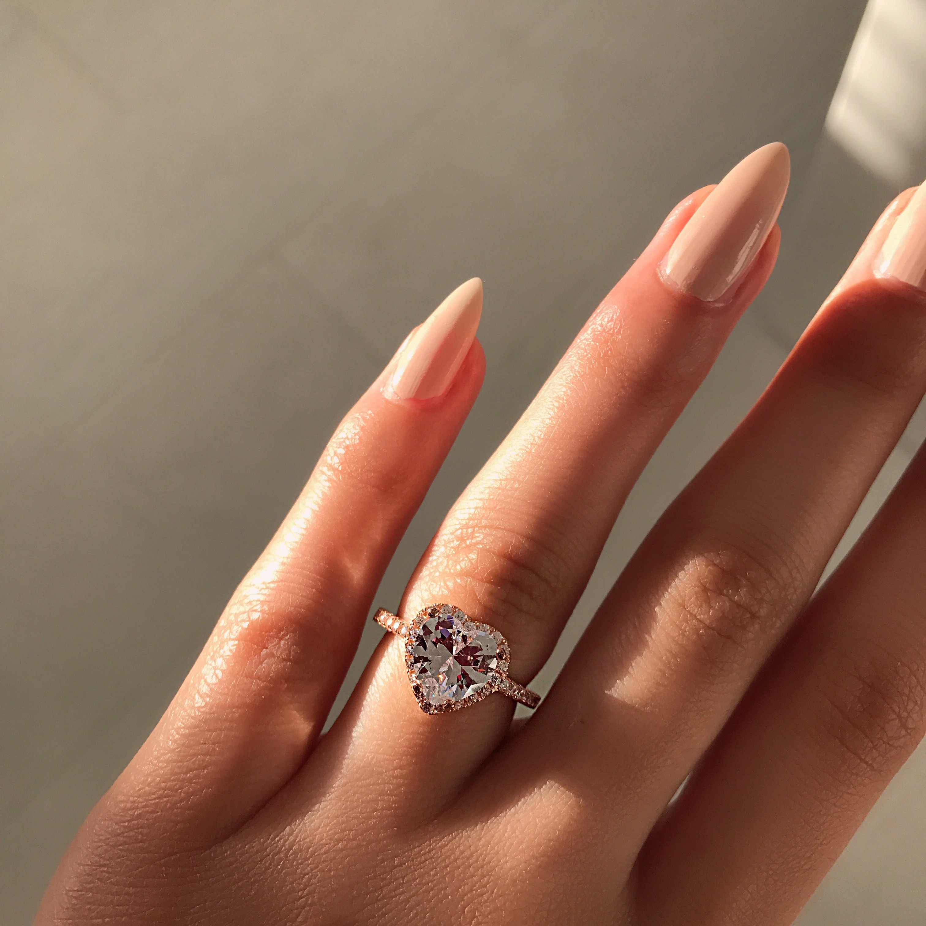 086130a7ef Rose Gold Heart Luxe Sterling Silver Ring – Phantom Jewels