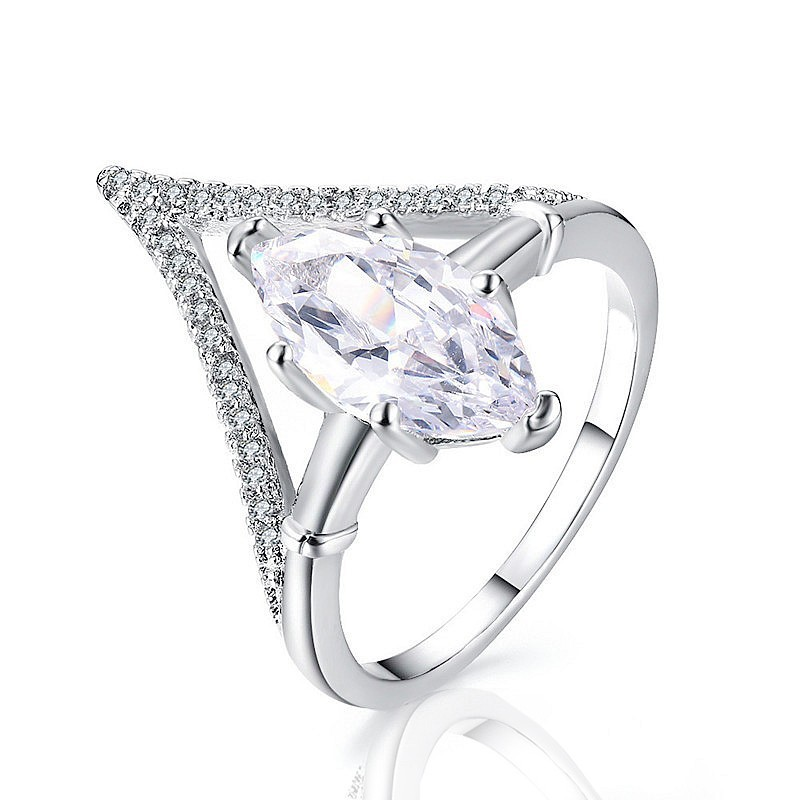 marquise v band ring