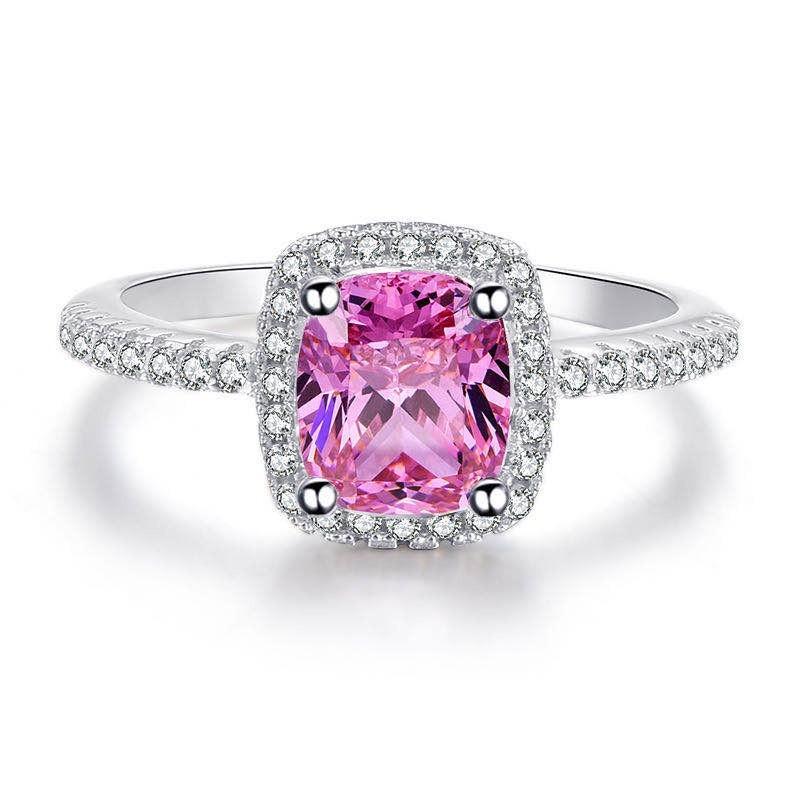 pink cushion cut odessa ring