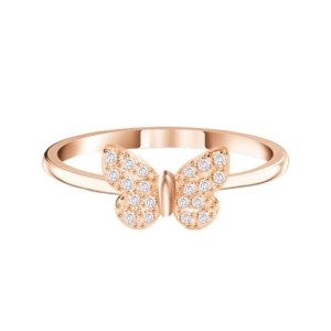 Rose Gold Butterfly Obsession Ring