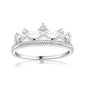 dainty crown tiara ring