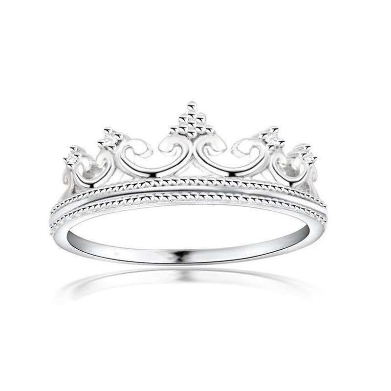 dainty crown tiara ring