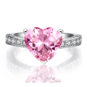 pink embassy heart ring