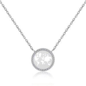 world earth diamond necklace map necklace