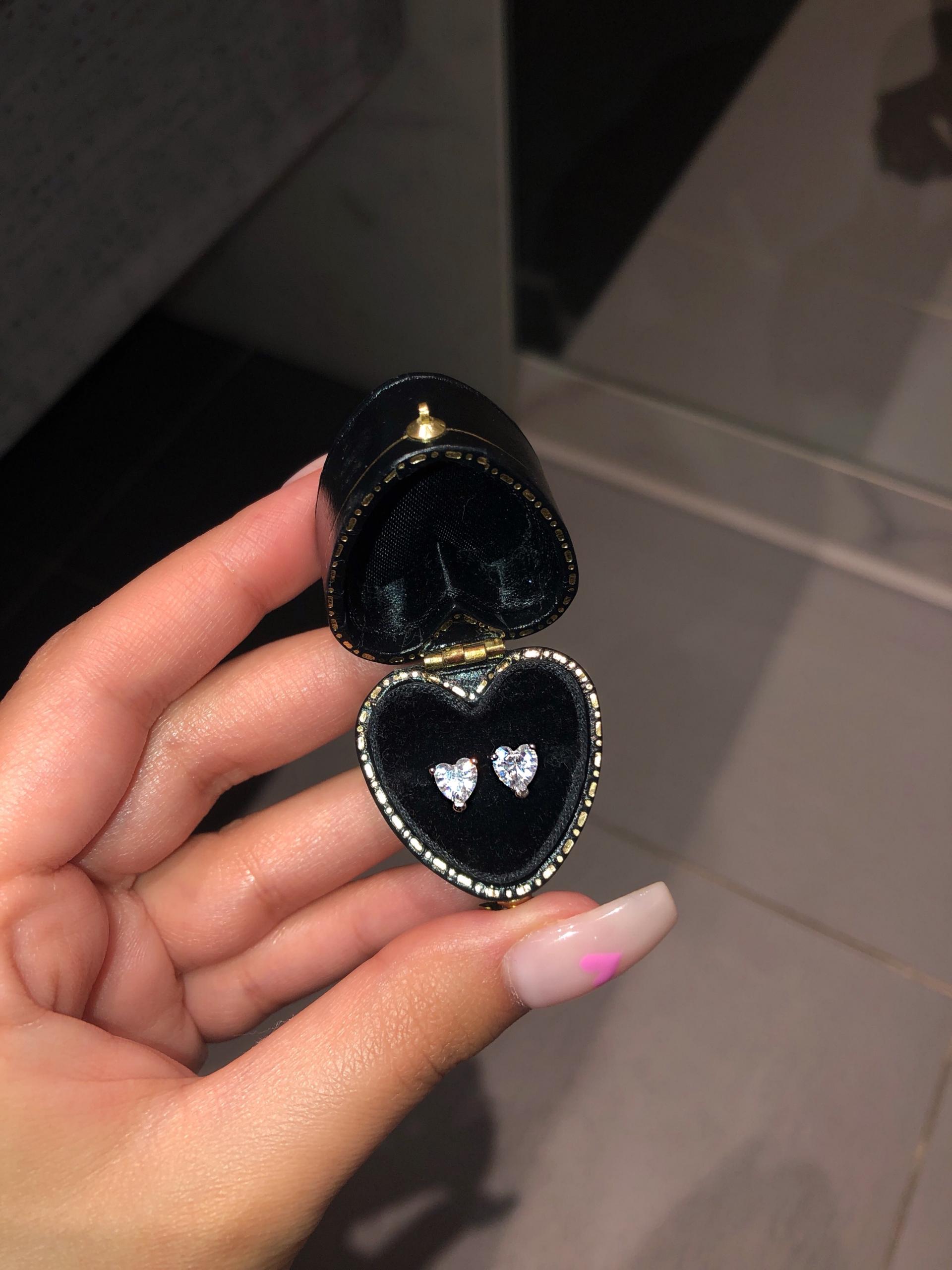 heart shaped earrings, heart studs, silver heart earrings, mini heart earrings